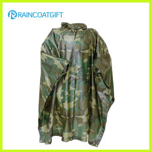 Polyester PVC Camouflage Raincoat (RPE-147) pictures & photos