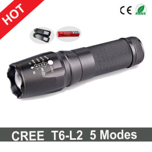 Hot Sale CREE T6-L2 LED Flashlight+Charger+1X18650 Battery pictures & photos