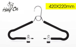 Multifunction Foam Metal Pants Hanger with Clips