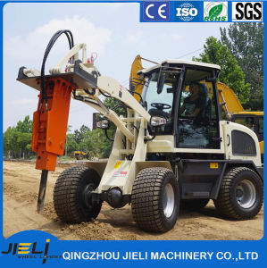 Ce Articulated 0.8 Ton Mini Front Wheel Loader with Rops&Fops Cabin Zl08 pictures & photos