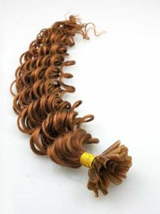 Russian Remy Italian Keratin U Tip Fusion Human Hair Extensions pictures & photos