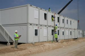 Container Office/Prefabricated Office Building on Site pictures & photos