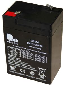 6V Alarm Power Emergency Rechargeable Sealed VRLA Battery pictures & photos