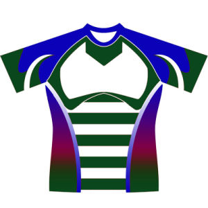 Custom Design Sublimation Rugby Jersey T Shirt with Logos pictures & photos