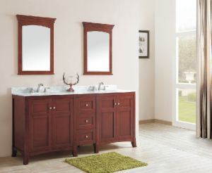 New Design Solid Wood Bathroom Cabinet (DS08) pictures & photos
