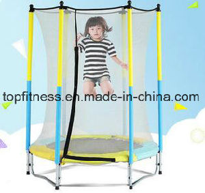 Cheap Outdoor Round Trampoline with Enclosure pictures & photos