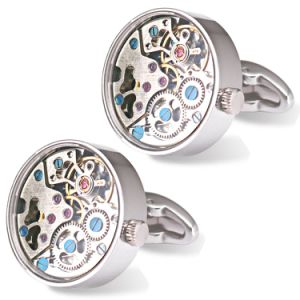 Make Custom Watch Cufflinks with Glass Cover Wm-891