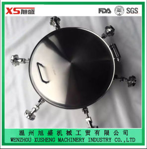 Dull Polish Stainless Steel Ss316 Tank Round Pressure Manhole Cover pictures & photos