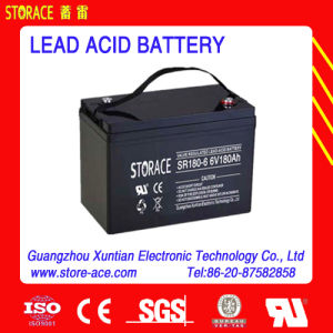 6V 180ah AGM Lead Acid Battery pictures & photos