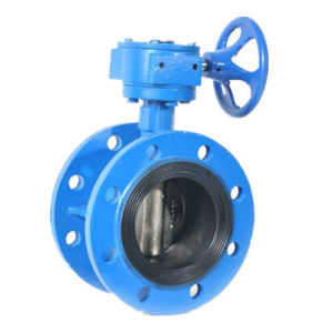 Wafer Flanged Butterfly Valve Worm Gear pictures & photos