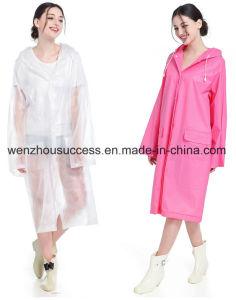 Adult Non-Disposable PVC Rain Poncho pictures & photos