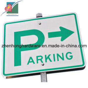 Aluminum White Color Parking Notice Traffic Sign (ZH-TS-014)
