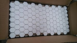 92% 95% Al2O3 Alumina Ceramic Hexagon Tile pictures & photos