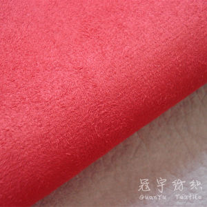Faux Suede Polyester Compound Fabric with T/C Backing pictures & photos