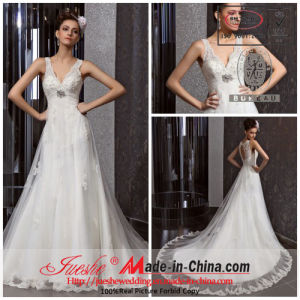 2013 Jueshe New Design A-Line Lace Wedding Dress (5267)