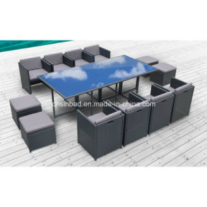 Outdoor Table & Chairs for Garden with Aluminum / SGS (8219-5 GREY) pictures & photos