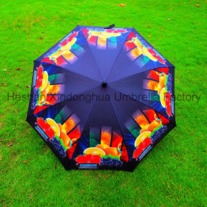 Full Printing Fiberglass Windproof Golf Umbrella with Customerized Logo (GOL-0027FAC) pictures & photos