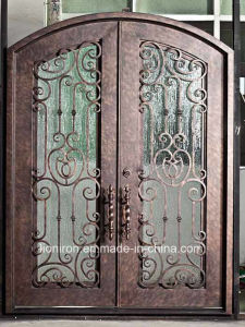 Whole Sale Security Custom Wrought Iron Entry Door pictures & photos