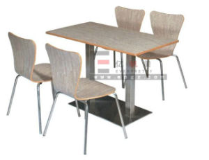 Wood Dining Table and Bench for School Canteen Room pictures & photos