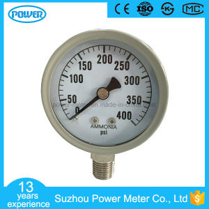 2017 Hot Sale 2inch-50mm Gray Steel Case Bottom Type 400 Psi Ammonia Pressure Gauge pictures & photos