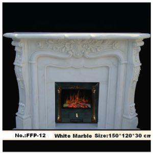 Stone Fireplace Mantel Hand Carved Fireplace (YKFFP-12)