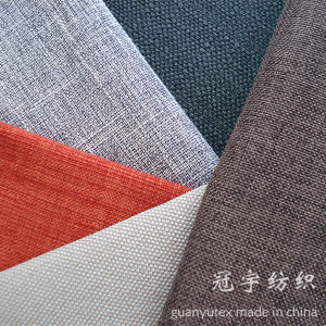 Slub Yarn Polyester Linen Fabric for Sofa Covers pictures & photos
