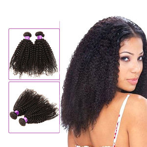 Kinky Hair Natural Hair Extensions, Virgin Mongolian Kinky Curly Hair pictures & photos