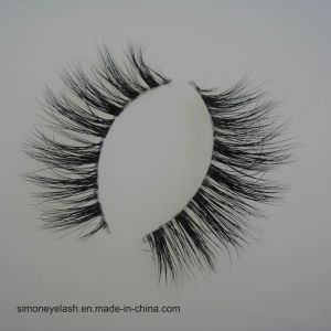 Plastic Terrier Natural Mink Hair Full Strip 3D Eyelashes pictures & photos