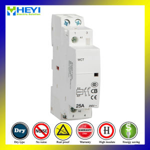 Household 220V Single Phase Contactor 25A 2 Pole 2nc 50Hz Electrical Type Operate pictures & photos