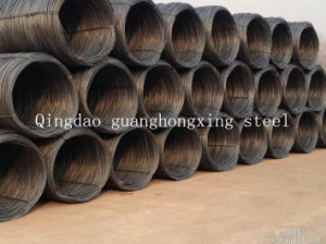 GB 08f, 10#, SAE 1006, 1006b, SAE1008b, SAE1010 Hot Rolled Steel Wire Rod pictures & photos