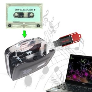 USB Cassette Tape Audio Player to Convert Records Tape Audio to MP3 Saving Records Into USB Flash