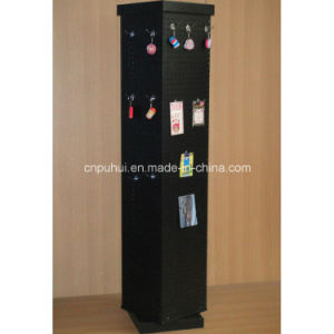 Rotating Floor Double Sides Metal Pegboard Display Rack (PHY282) pictures & photos