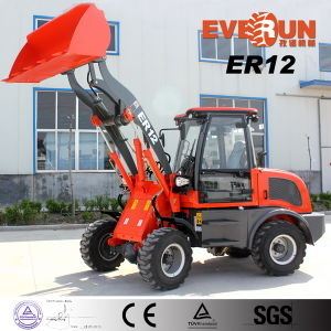 Qingdao Everun Brand Mini Loader Er12 with Snow Plough pictures & photos