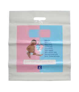Branded HDPE Die Cut Plastic Bags for Sports (FLD-8579) pictures & photos