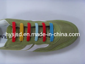 Wholesale Good Quality Flat Elastic Shoelace pictures & photos