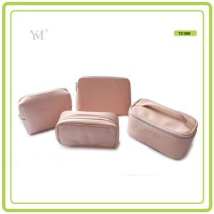 Brand New Custom Logo Printed PVC Leather Zipper Cosmetic Makeup Set Bag pictures & photos