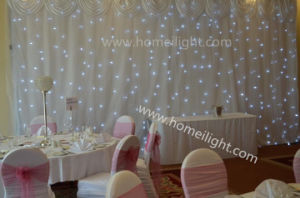 2017 Most Popular Wedding Decoration LED Star Backdrop Curtain with Fireproof pictures & photos