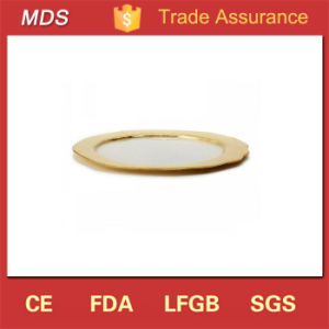 Elegant Organic Glass Gold Charger Plates for Wedding Decoration pictures & photos