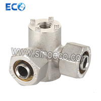Brass Double Wallplate Elbow Bite Type Fittings for Pex-Al-Pex pictures & photos