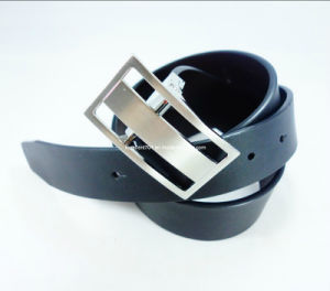 Formal Man Leather Belt with Auto Buckle (EU2119-33)