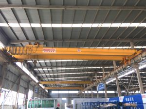 Steel Structure Workshop Used Double Girder Overhead Crane with Electric Hoist pictures & photos