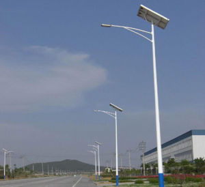 7m Hot Dipped Galvanized Outside Solar Lighting with Solar Panel pictures & photos
