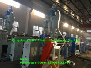 Italy Running Hydraulic Hose Protective Sheath PE Spiral Wrapping Band Production Line pictures & photos