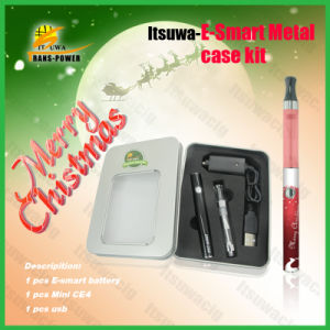 2013 Itsuwa Christmas Promotion Most Popular New Graceful E Cigarette Esmart Metal Case Kit
