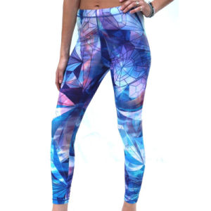 Custom Ladies Sublimated Compression Long Yoga Pants for Women pictures & photos