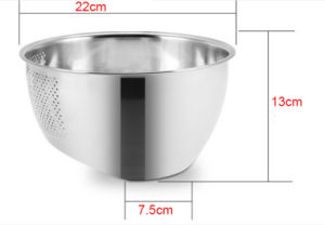 Stainless Steel Deep Wash Rice Strainer (JH-001) pictures & photos