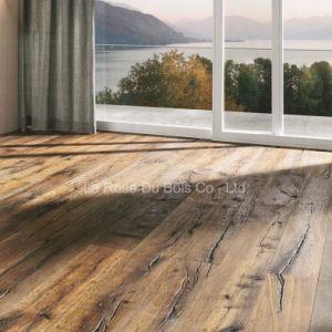 Hand Scraped Natural Crack Wood Flooring/Engineered Oak Floors/Hardwood Parquet Flooring