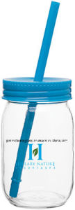 Sublimation16oz Drinking Glass Mason Jar with Colored Lid and Straw pictures & photos