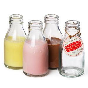 200ml Transparent Glass Milk Bottle /Glass Bottle for Milk pictures & photos