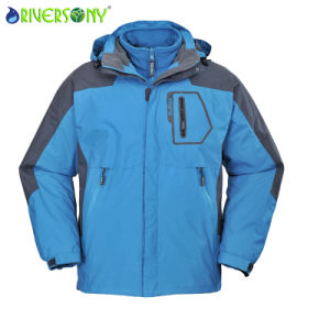 Nylon Waterproof Men′s 3 in 1 Outdoor Jacket pictures & photos